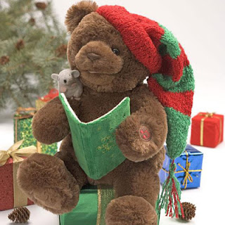 new year teddy bear gift card