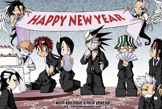 anime cartoon new year card