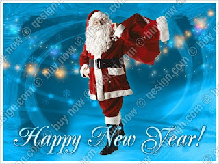 santa claus new year greetings