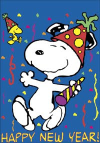 Free Snoopy New Year Ecards