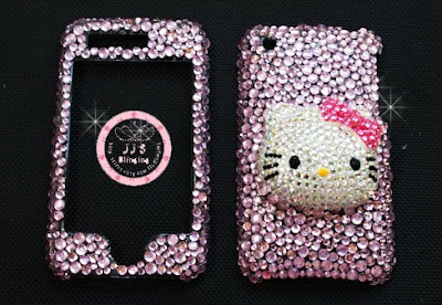 HELLO KITTY SWAROVSKI CRYSTAL APPLE IPHONE 3G BLING COVER CASE