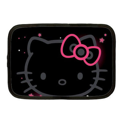 Cute Hello Kitty Black Netbook Sleeve Cover