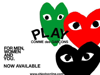 Play Comme Des Garcons Logo. COMME des GARCONS PLAY NOW