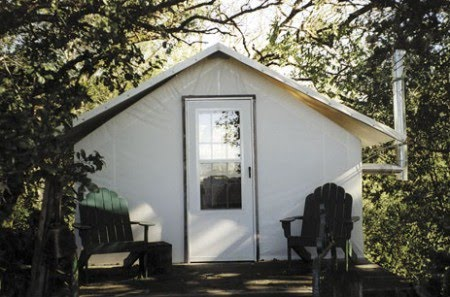 Vignette design tent living a unique wine country retreat for Permanent tent cabins