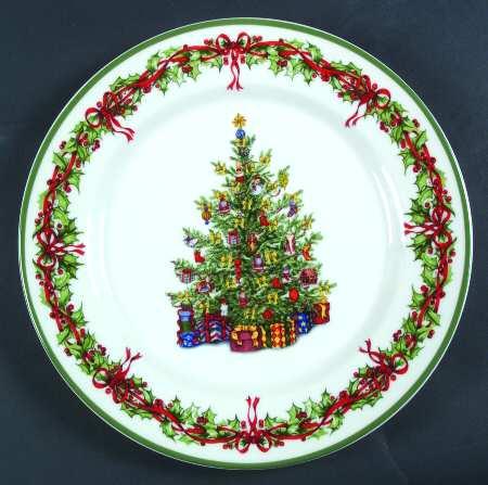 vignette design: Festive Christmas Plates For The Table