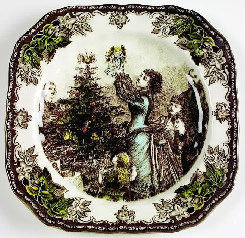 & vignette design: Festive Christmas Plates For The Table