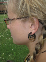 sarah+480 - Spiral Wood Earrings