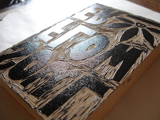 printing4 - Process: New Soul Flower Block Print Tee!