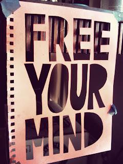 free stencil - Free Your Mind T-Shirt: Design Process