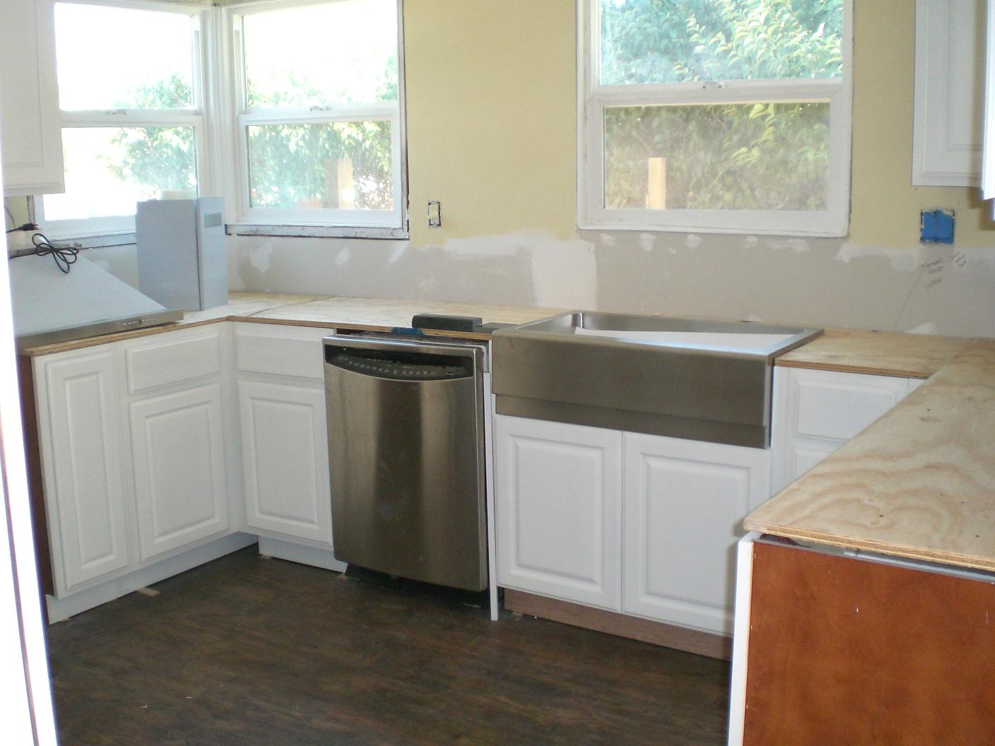 Stainless steel apron sink from overstock for only $350