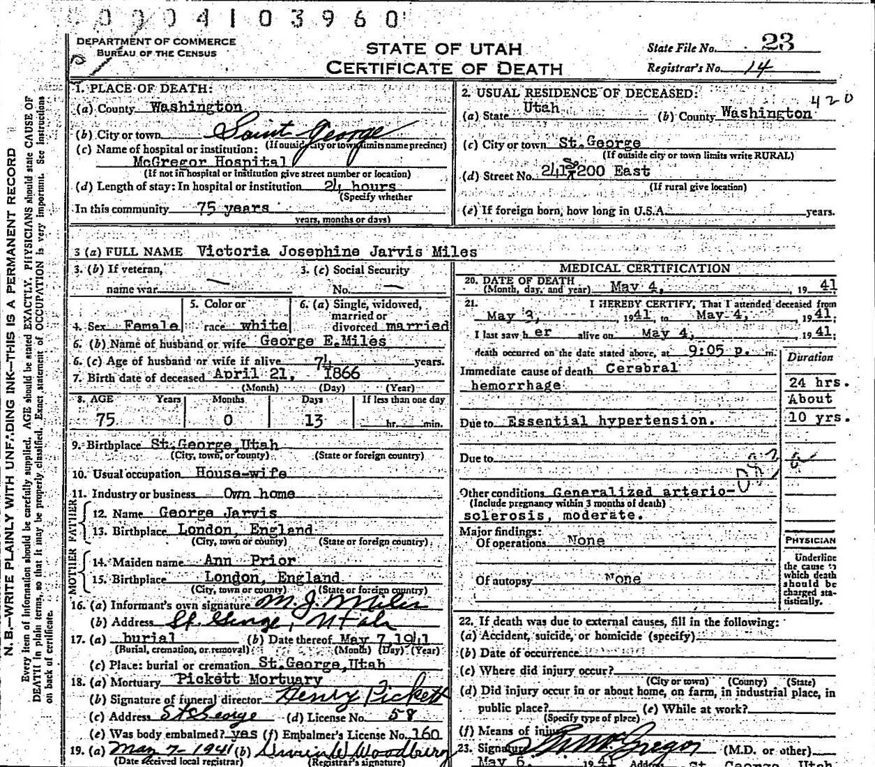 Vincent family history vital records marriage certificate xflitez Image collections