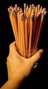 handful of pencils