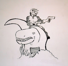 A Minotaur Riding a Dinosaur