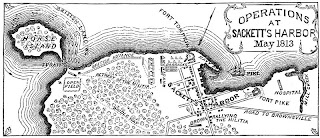 Map of Sackets Harbor Raid