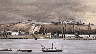 Watercolor of Fort Henry, Kingston, Ontario, 1839