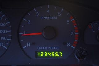 Photo of 2002 Mustang GT Odometer at 1234567