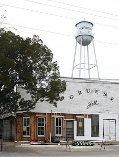 Historic Gruene Hall, with water tower in Gruene, Tx
