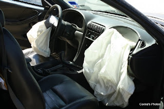 2002 Ford Mustang with blown airbags