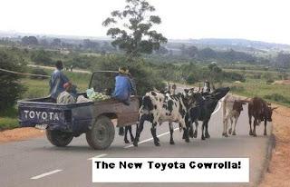 SANS COMMENTAIRES: LE GÉNIE AFRICAIN Toyota+cow