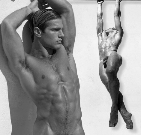 naked male fashion model
