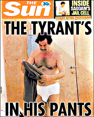 Saddam Hussein is, well, hung!