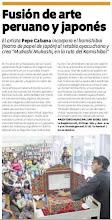 """Nota de prensa Suplemento ESCAPE Diario """"El Comercio"""" - Lima, Perú"""