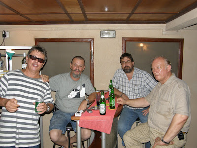 From Left. Herbert from Germany, he works for an oil company and write travel books. Nr2, Paris W Lebouf from Canada, he ownes a truck company, Falchem Mega Concept Ltd. Nr 3 another german once was kidnapped . Nr 4 is from Germany as well.