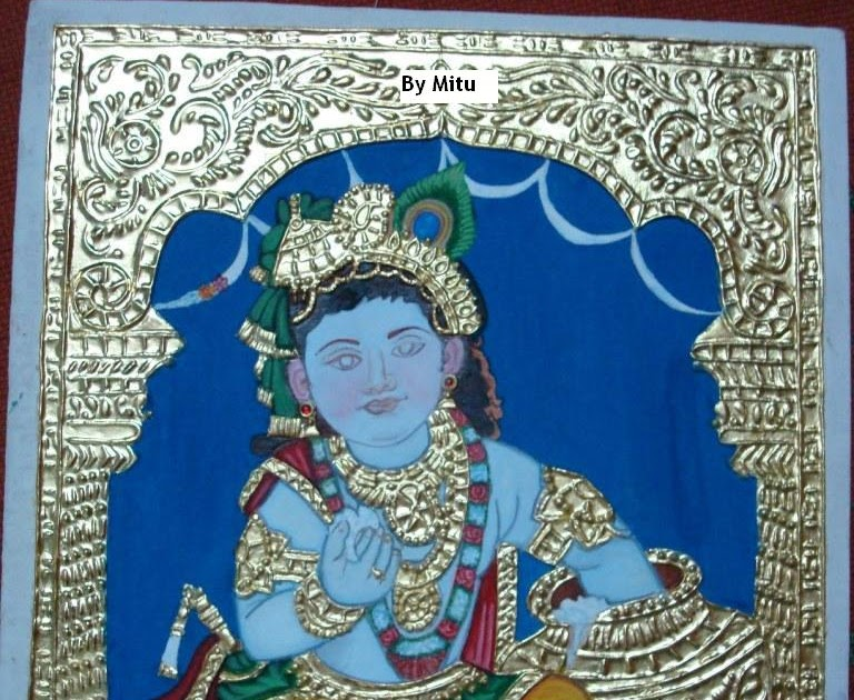 How To Do Tanjore Painting At Home