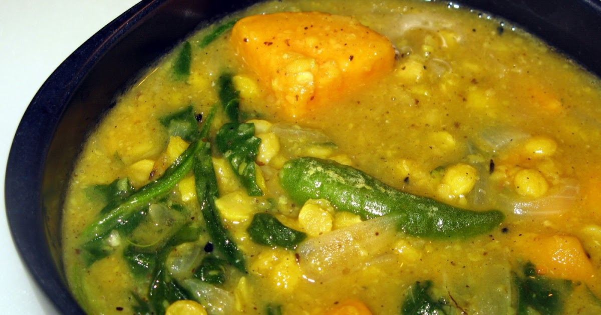 Humming in the kitchen: Spinach, Sweet potato & Channa dal curry with ...