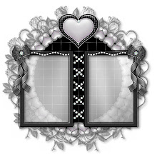 Black and silver hearts