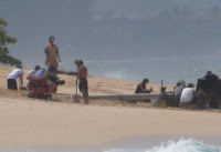 posted some photos and descriptions of the beach scene between Jacob and MIB that was fil Set Photos - 25th Feb