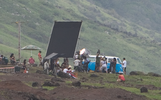 Thanks to Maja for the heads up on the following Evangeline and Jorge Filming Scene