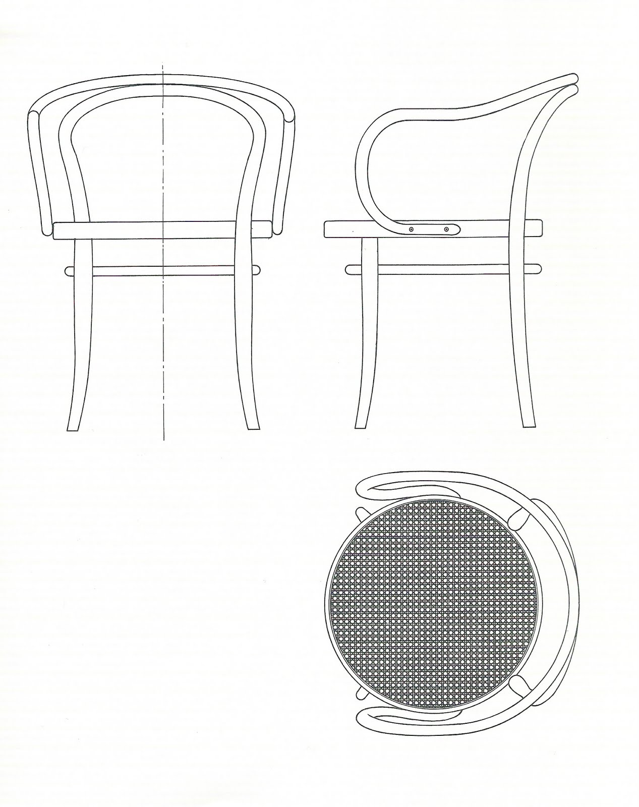 Scm wet dry sedia thonet thonet chair for Poltrone design dwg