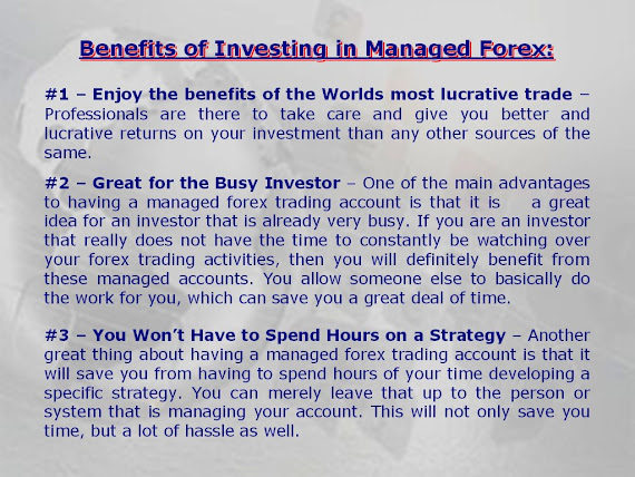 Forex account benefits