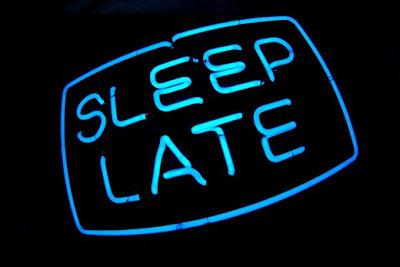 sleep late