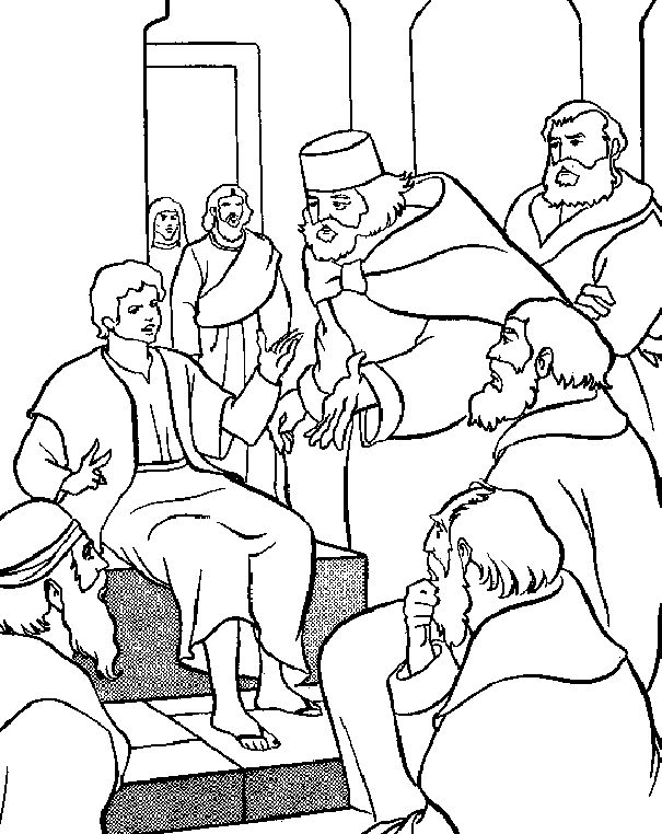 Free Coloring Pages Of Synagogue Jesus At The Temple As A Boy Coloring Page Free
