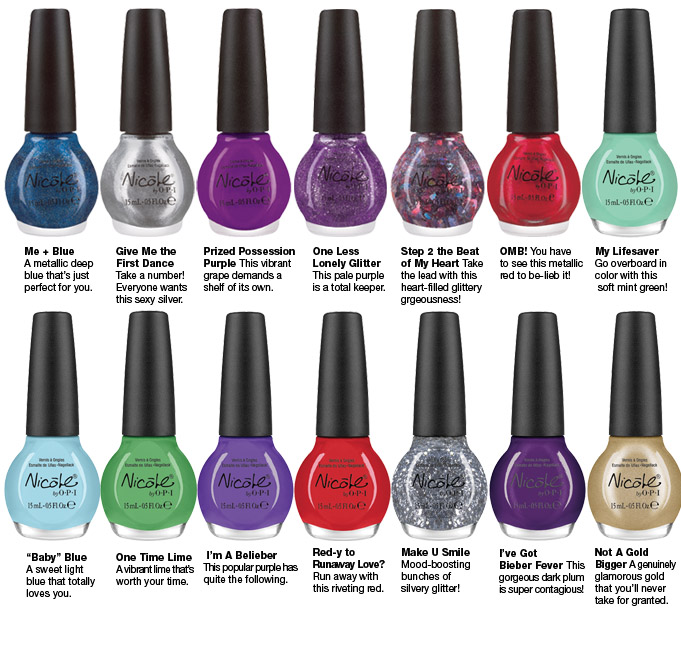 Russian Beauty: Justin Bieber Nail Collection of Giving