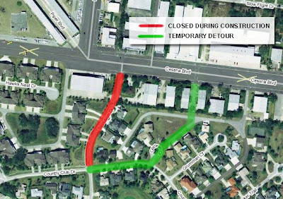 Spruce Creek Fly-in Road Closure Detour