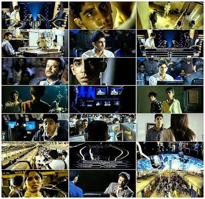 Diferentes escenas de la película Quien quiere ser millonario
