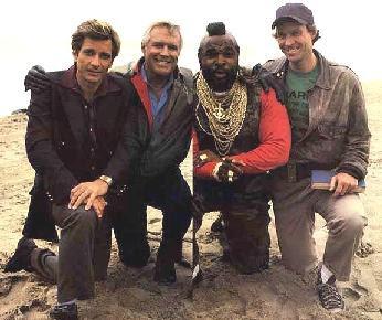 Mario Baracus con los Magníficos en la playa