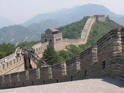 Imagen de La Gran Muralla de China en día nublado