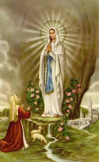 Cuadro de la aparición de la Virgen a Santa Bernardita