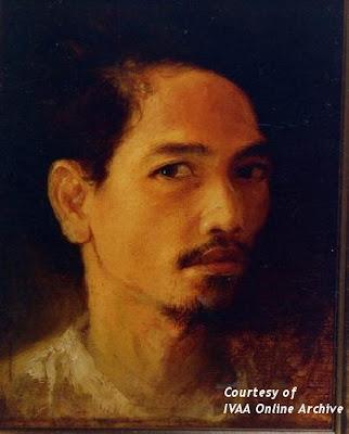 Trubus, &;potret diri,&; cat minyak di atas kanvas, 18 x 23 cm, diambil