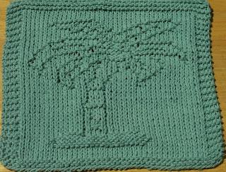 DigKnitty Designs: Palm Tree Knit Dishcloth Pattern