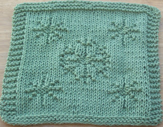Knitting Pattern Snowflake Dishcloth : DigKnitty Designs: More Snowflakes Knit Dishcloth Pattern