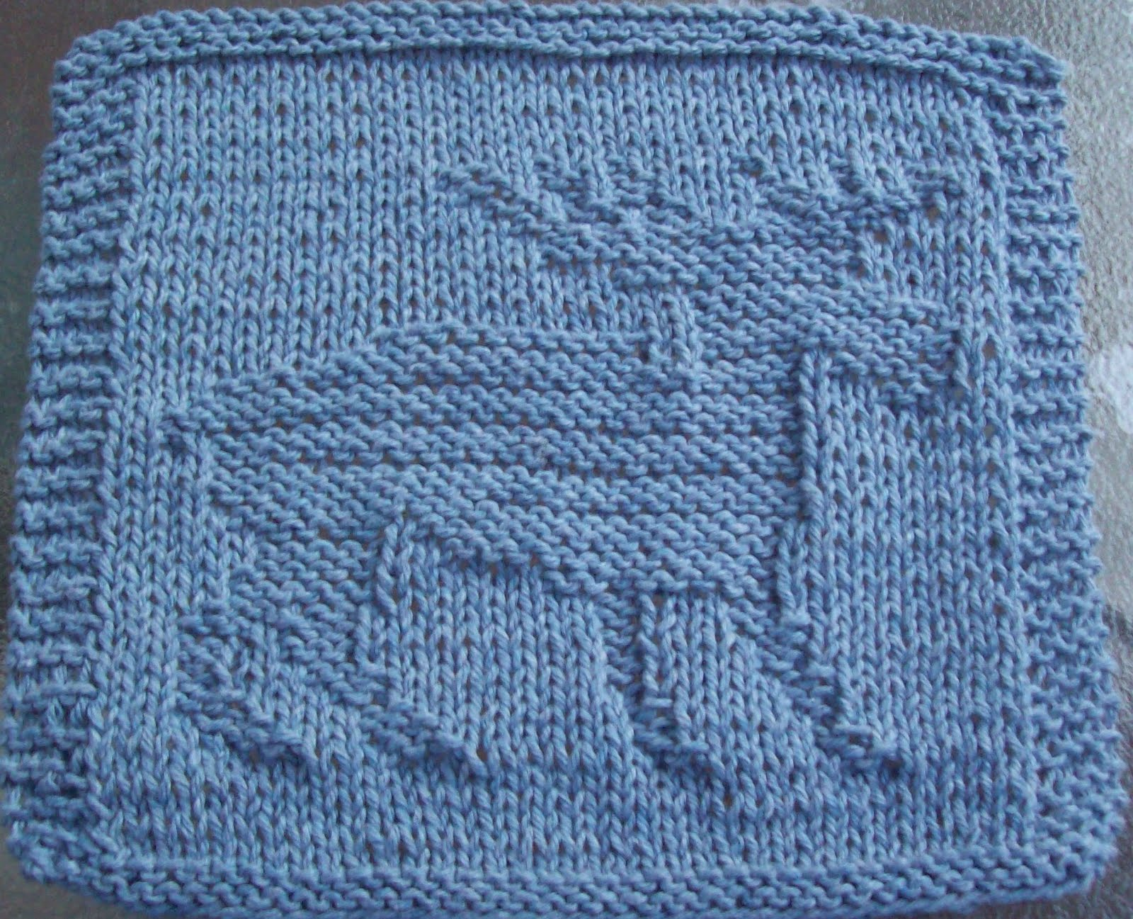 DigKnitty Designs: Moose Knit Dishcloth Pattern