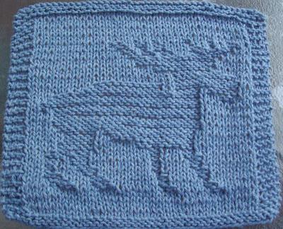 Moose Knitting Pattern : DigKnitty Designs: Moose Knit Dishcloth Pattern