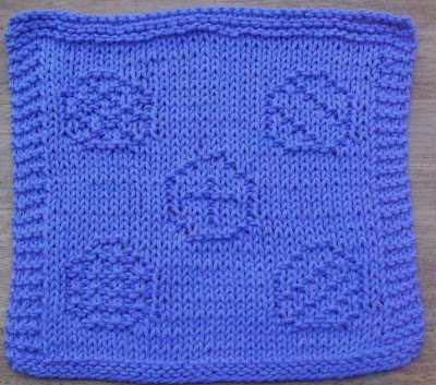 Knitted Dishcloth Patterns For Easter : DigKnitty Designs: Easter Eggs Knit Dishcloth Pattern