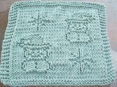 Knitting Pattern Snowflake Dishcloth : DigKnitty Designs: Snowmen and Snowflakes Knit Dishcloth Pattern
