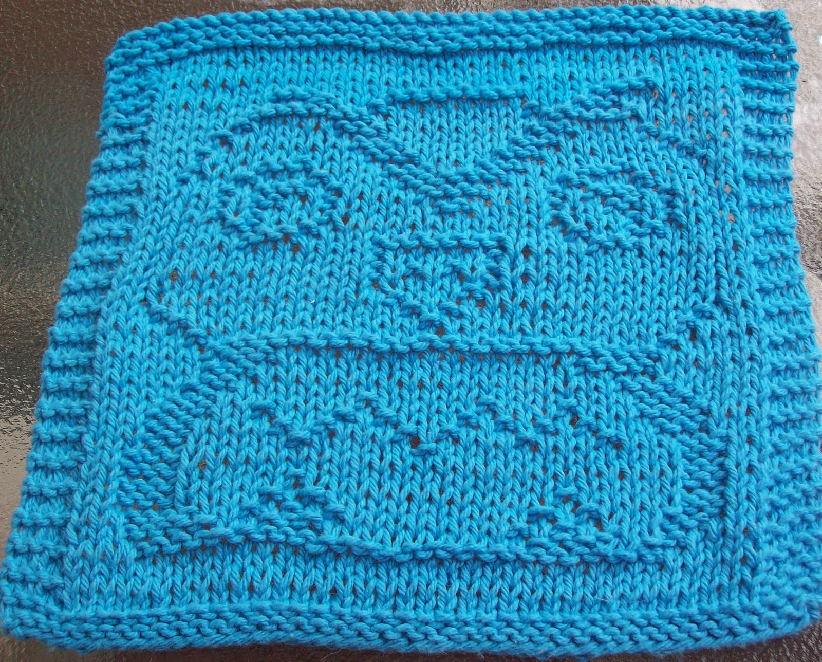 Pattern Knitted Dishcloth : DISHCLOTH PATTERNS KNITTED   Free Patterns